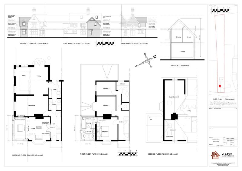 Jags architechs portfolio for Extension floor plans